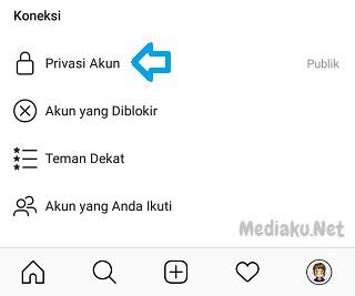 Cara Membuat Akun Instagram Bersifat Pribadi