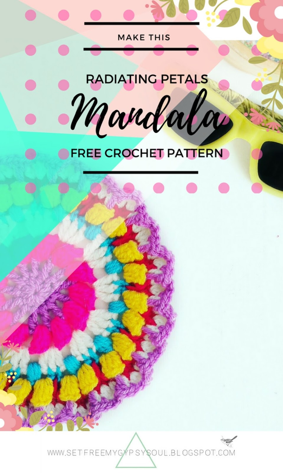 crochet pattern mandala boho flower hippie gypsy