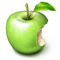 biten apple fruit icons