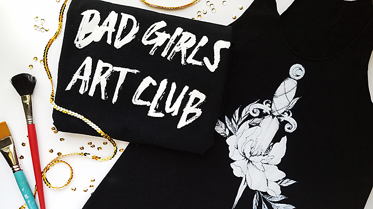 Bad Girls Art Club Tee from Drawings by Annabelle.