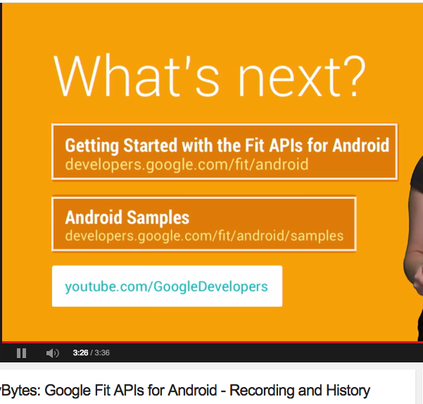 Google Fit APIs for Android - Recording and History