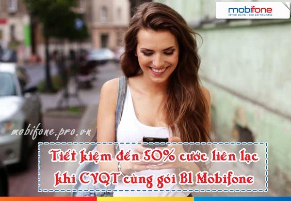 Chuyển vùng quốc tế tiết kiệm 50% cước phí cùng gói B1 Mobifone