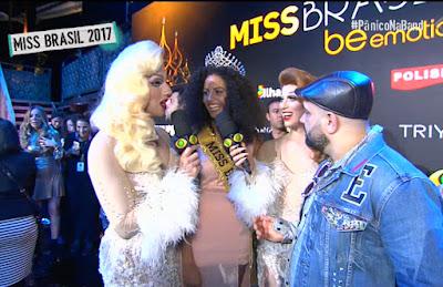 A Miss Brasil 2017 Monalysa Alcântara é entrevistada pelo Pânico na Band - Divulgação/Band