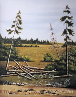 Chris Stern Canadian Artist, Bc Canada Oil Painting