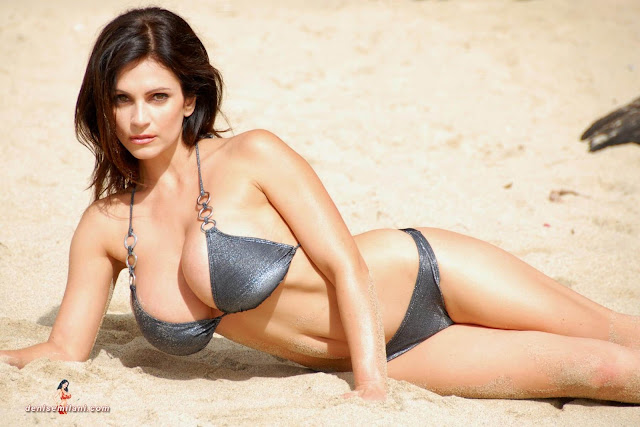 Denise-Milani-Beach-Silver-bikini-hottest-photoshoot-pics-7