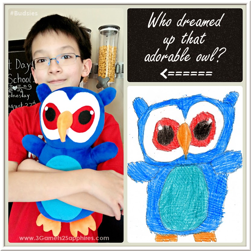 #Budsies custom plush owl designed by a 10yr old boy