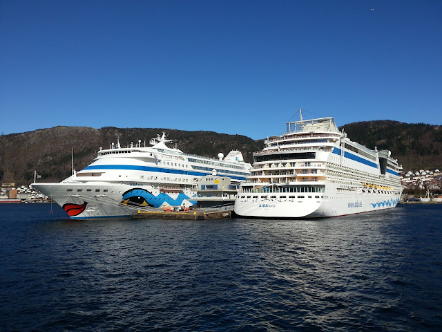 Cruise ship AIDAluna in Bergen, Norway