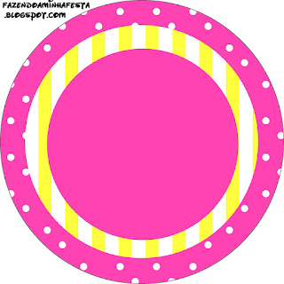 Sweet 16 Pink and Yellow: Free Printable Cupcake Toppers and Wrappers.