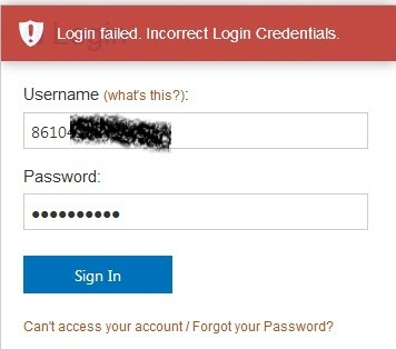 UI post UTME page showing Login failed