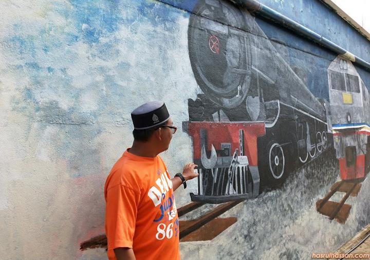 Dinding Mural Dicat Dengan Cat Jotun