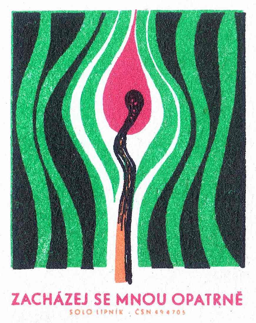 Russian matchbox art, 1950s? Zachazej Se Mnou Poatrne, Solo Lipnik