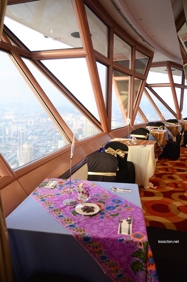 Magnificent KL view from the Mega View Banquet Hall at KL Tower