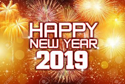 Gambar Ucapan Selamat Tahun Baru 2019 Kembang Api Petasan Happy New Year