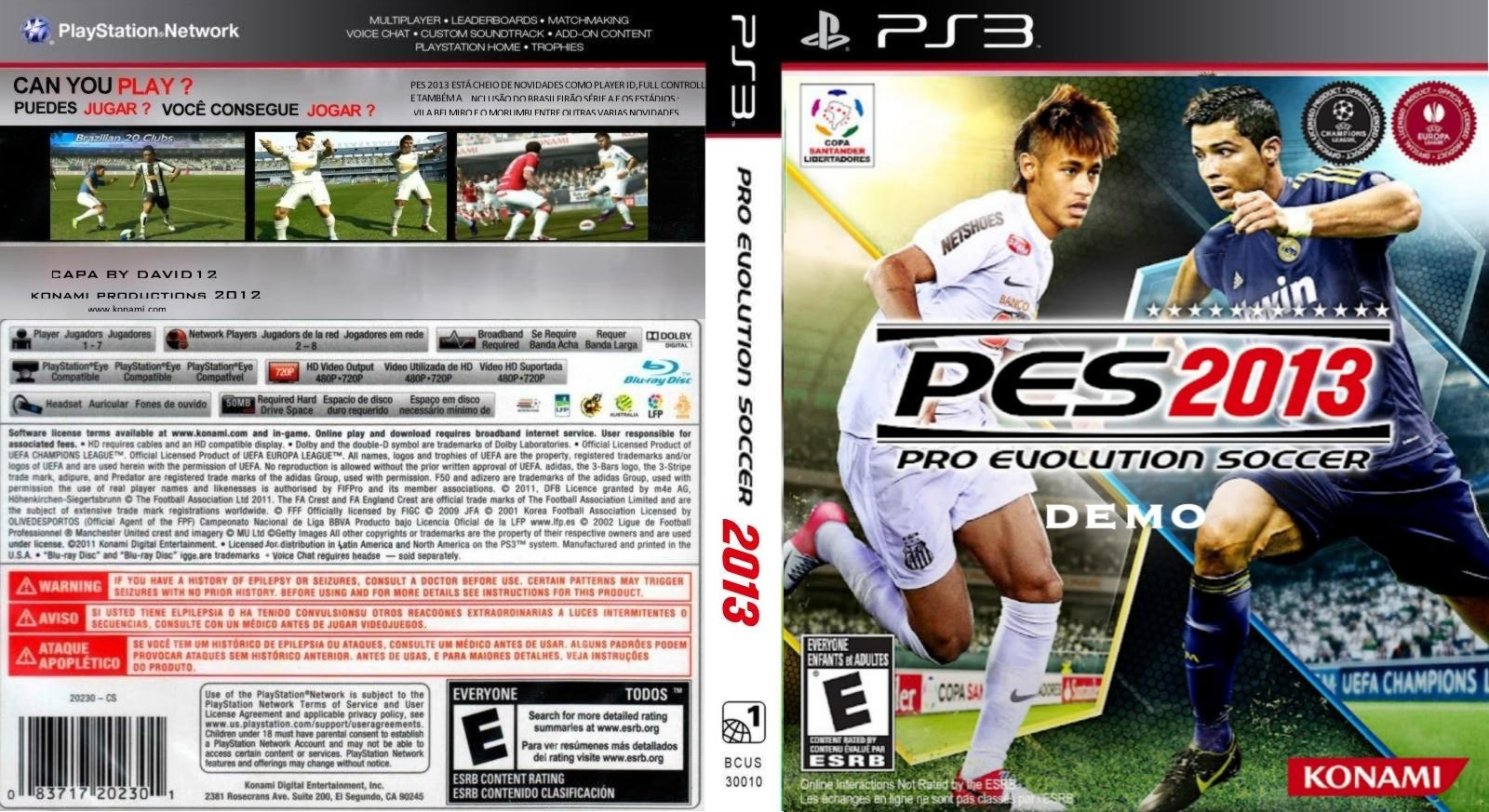 Baixar Games Gratuitos: Download Pro Evolution Soccer 2013 (PS3)