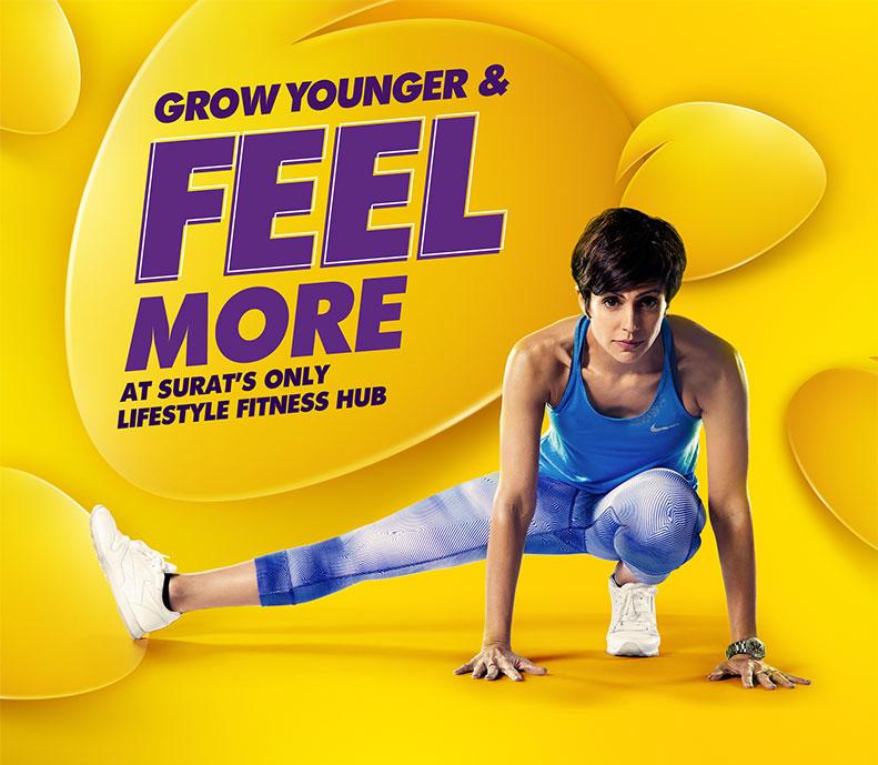 cb patel health Club ads
