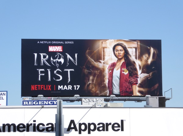 Colleen Wing Iron Fist series billboard