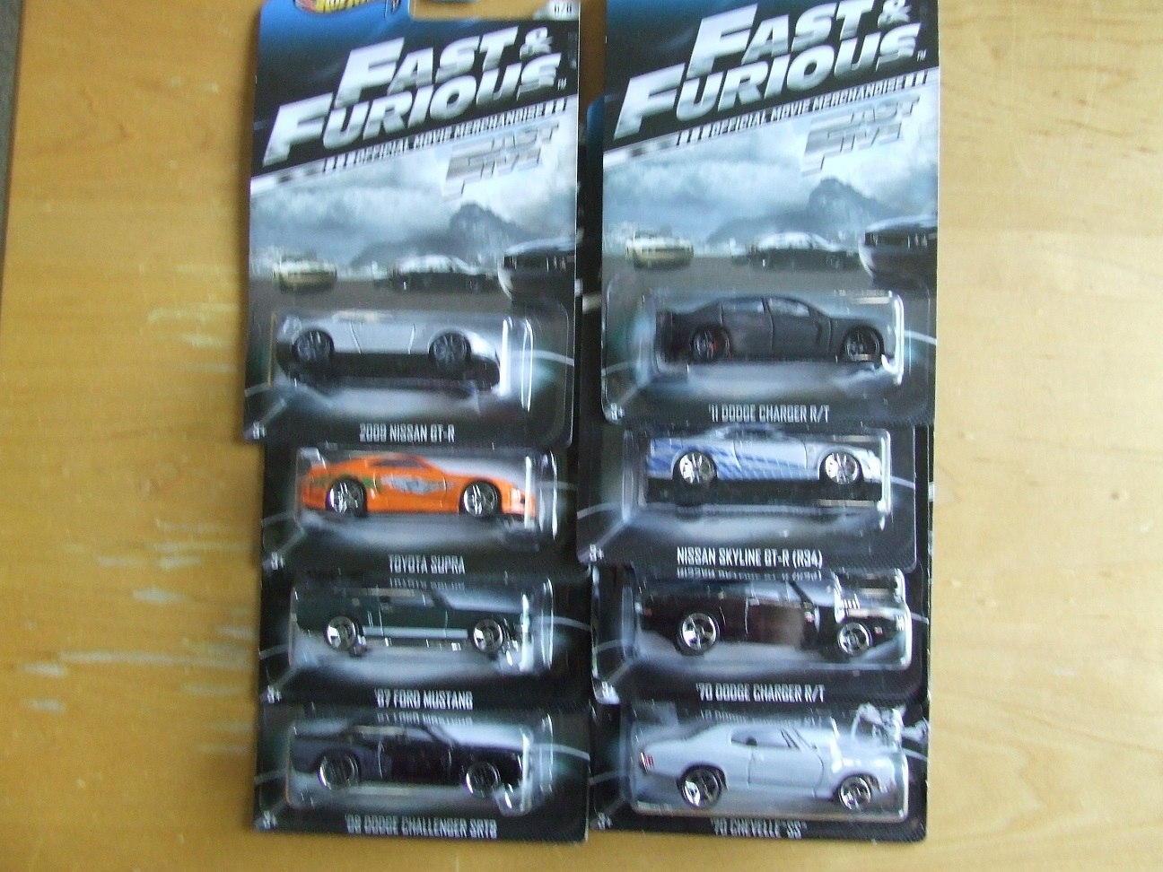 matts4littlewheels fast and furious all 8 cars second set up for sale. Black Bedroom Furniture Sets. Home Design Ideas