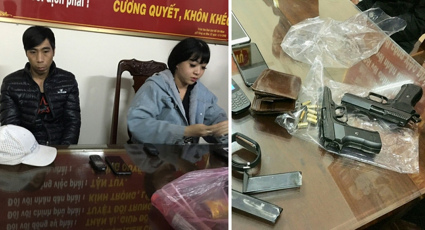 """Đi tuần tra, cảnh sát cơ động Gia Lai bắt gọn nhiều thanh niên mang theo súng, ma túy... """"đi chơi"""""""