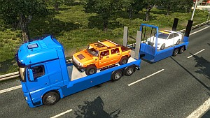 Mercedes MP4 Flatbed + trailer