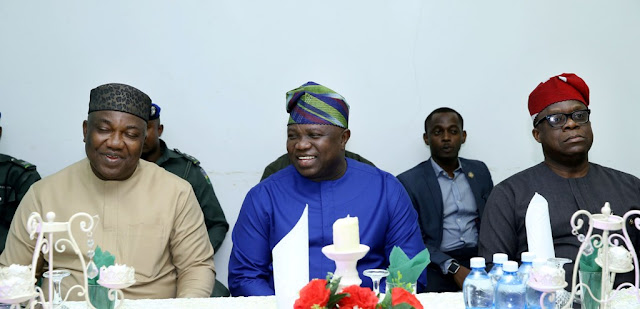 Photos: Gov. Ambode pays courtesy visit to his Enugu State counterpart, Gov. Ugwuanyi at Government house, Enugu