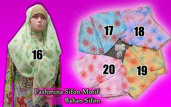 jilbab pashmina sifon motif murah