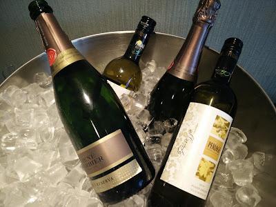 Happy Hour wines at Executive Lounge, Hilton Strand Helsinki