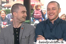 Daniel Radcliffe and James McAvoy on the Today Show: Kathie Lee & Hoda