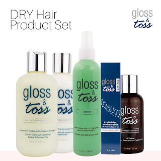 Shop online for Gloss & Toss Hair Kit to help with dry hair