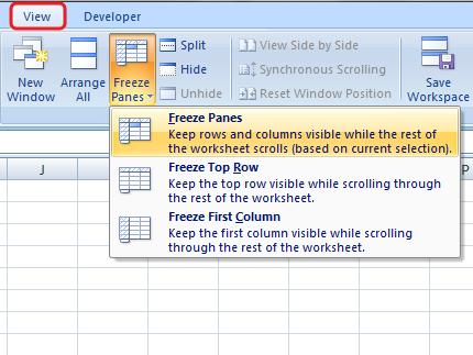 Cara Menggunakan Freeze Panes Di Microsoft Excel
