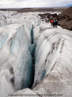 Parte de la excursión por el glaciar Vatnajökull