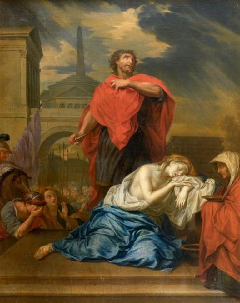 Jephthah's daughter may have prior knowledge of her father's vow before she steps out of the house. And yet if the daughter did know, one wonders why she went out to greet him.