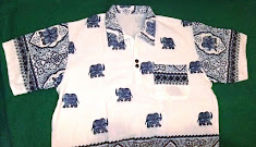 เสื้อผ้าฝ้ายลายช้าง