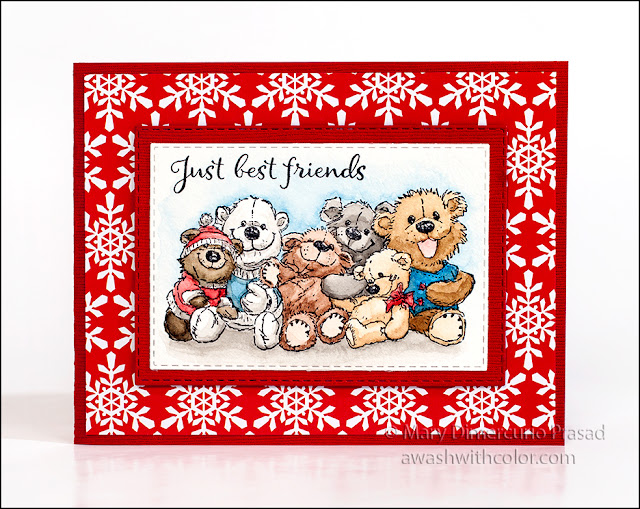 Bunch of Bears by Rubbernecker Stamps Watercolor by Prima
