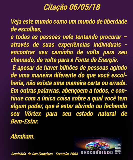 Citações dos Abraham - Citação do dia 06/05/2018