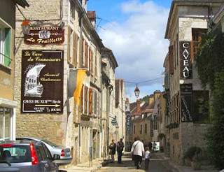 Street Chablis Burgundy France