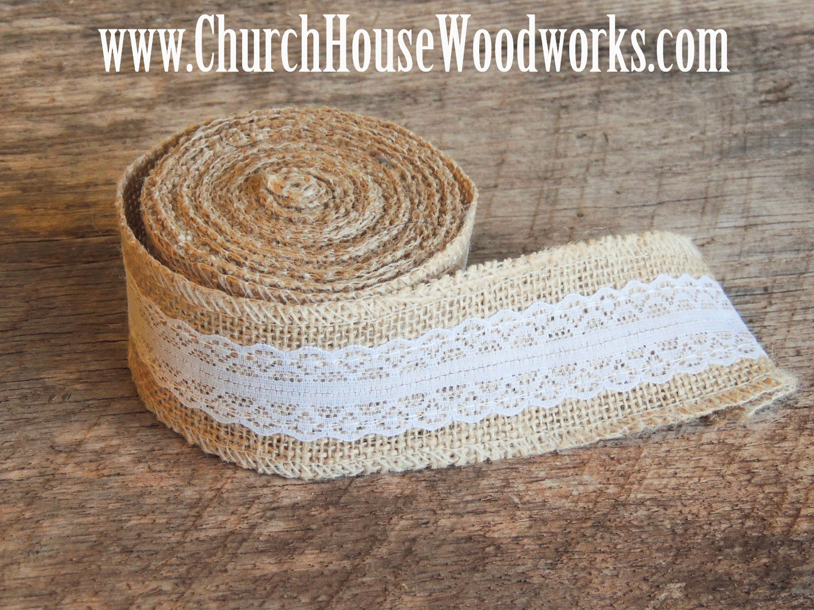 Rustic 4 weddings march 2016 jute burlap ribbon 5 yards by 2 inches wide jute burlap trim ribbon with ivory lace rustic wedding decor burlap supplies bows solutioingenieria Gallery