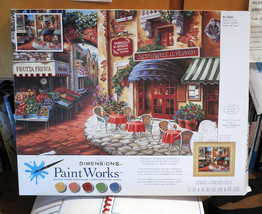 The Daily Paint By Number: Unboxing Dimensions PaintWorks Taste Of Italy