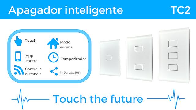 Apagador inteligente TC2 - Luces inteligentes.