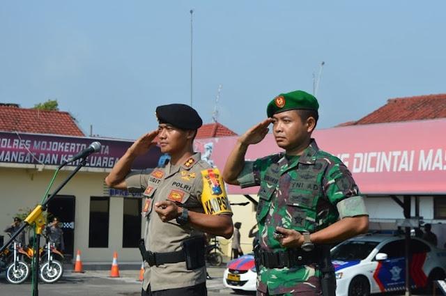 TNI-Polri Di Mojokerto Gelar Apel Kesiapan Pam Pemilu 2019