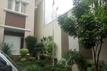 Pesanan Tiang Bendera Bu Afrida Raffles Hills Cibubur