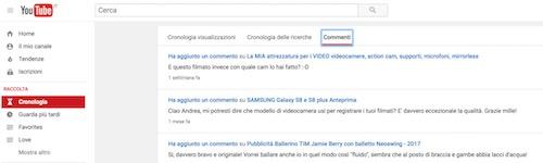 come mostrare i tuoi commenti su youtube