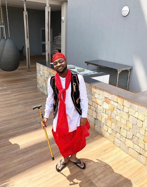 Davido Becomes A Groomsman For The First Time Ever, Shares New Photos In Native Attire