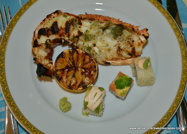 grilled lobster at Palazzo Versace Dubai