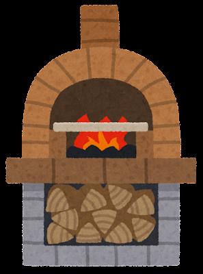 ピザ窯のイラスト