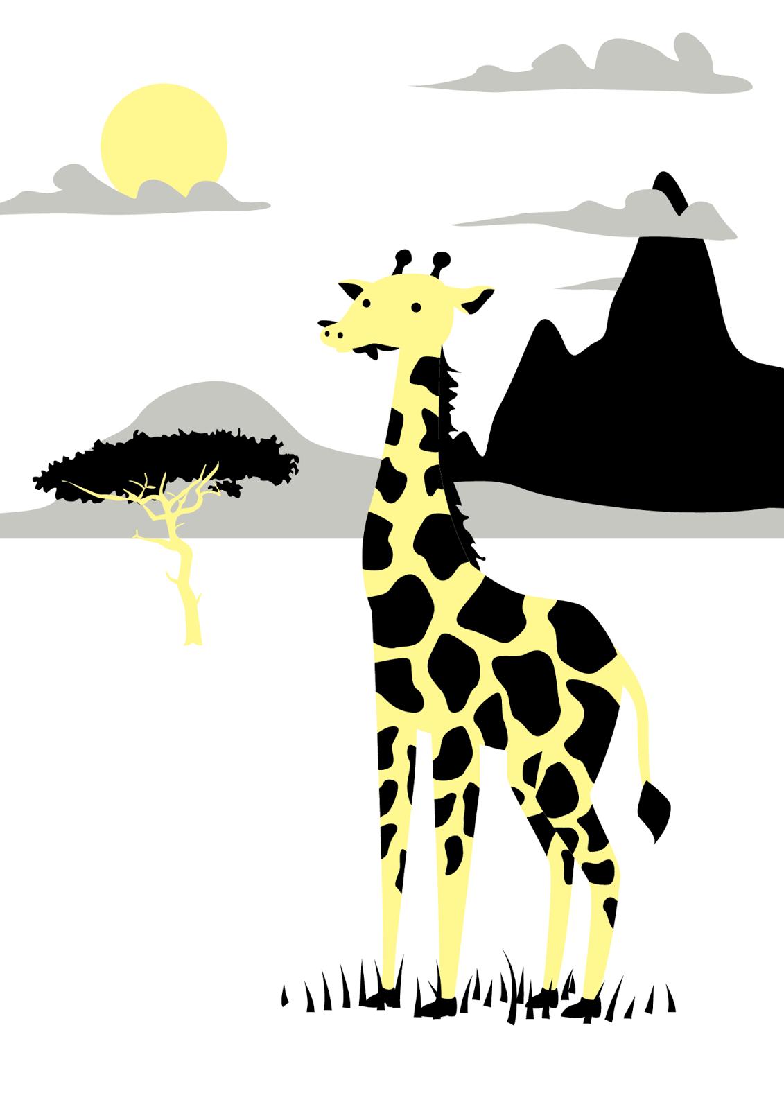 Jen Haugan Sound Art | Graphic Design: Giraffe Print