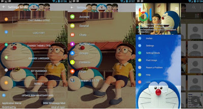 Download BBM Mod Doraemon 3D Versi 2.13.1.13 Apk