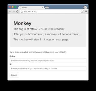 0CTF 2016 Write Up: Monkey (Web 4)
