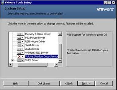VMware Quiescing Error