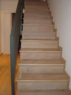 Como forrar una escalera con madera
