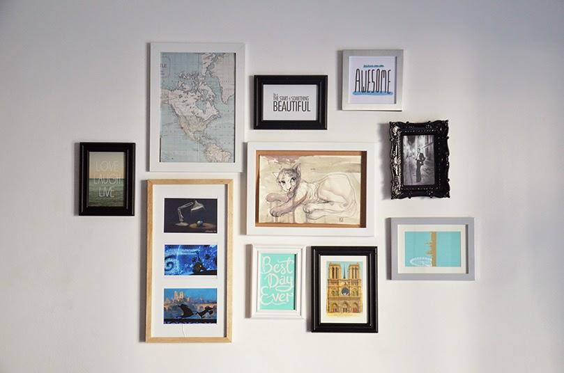 deco cadre photo mur meilleures images d 39 inspiration pour votre design de maison. Black Bedroom Furniture Sets. Home Design Ideas